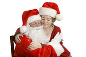 A Hug For Santa — Stock Photo