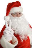 Santa Claus Peace Sign — Stock Photo