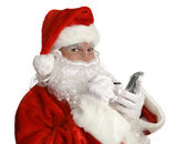 Santa's Nice List on PDA — Stock Photo
