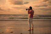 Photographing Sunset — Stock Photo