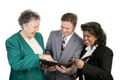 Diverse Business Group - Good News — Stock Photo
