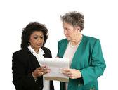 Weibliche business-team - betroffenen — Stockfoto