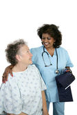 Friendly Patient Care — Stock Photo