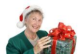 Friendly Senior & Gift — Foto de Stock