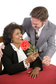 Rose For His Date — Stock Photo