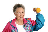Senior Fit & Friendly — Stock Photo