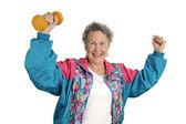 Sucesso de fitness sênior — Foto Stock