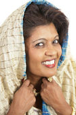 Traditional Indian Woman Portrait — Stock Photo