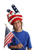 Patriot Boy - Funny — Stock Photo