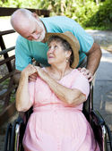Senior Couple Caretaker — Stock Photo
