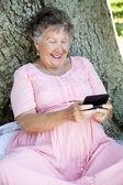 Senior Woman Texting — Stock Photo