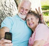 Seniors - Fun Self-Portrait — Stock Photo