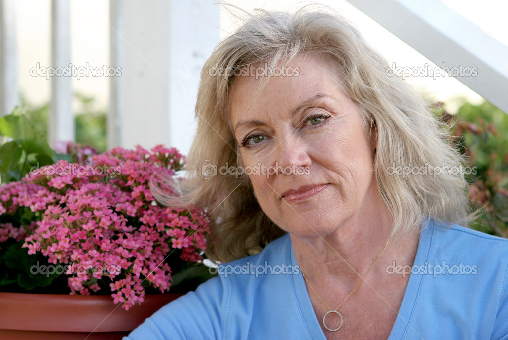 Mature Beauty - Concerned — Stock Photo © lisafx #6813964