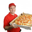 Fresh Hot Pizza Delivered — Stock Photo
