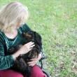 Cuddly Dachshund in the Park — Stock Photo #6832609