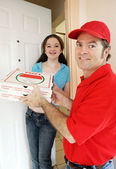 Pizza Delivery Vertical — Stock Photo