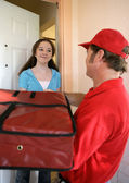 Pizza Home Delivery — Stock Photo