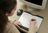 Graphic Artist Tablet — Stock Photo