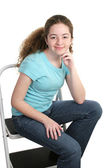 Relaxed Teen In T-shirt — Stock Photo