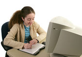 Teen & Graphics Tablet 1 — Stock Photo