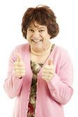 Cross Dresser - Two Thumbs Up — Stock Photo