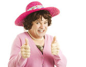 Cross Dresser Two Thumbs Up — Stock Photo