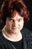 Transvestita portrét - vážné — Stock fotografie