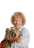 Little Red Riding Dog & Mom — Stock Photo
