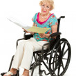 Stock Photo: Disabled Senior - Medical Bills