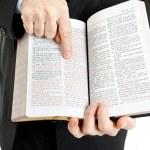 Businessman or Minister - John 3:16 — Stok fotoğraf