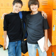 Stock Photo: School Boys - Best Friends