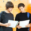 Royalty-Free Stock Photo: Teen Boys Comparing Homework
