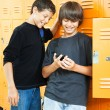 Teen Boys with Video Game - Stock Photo