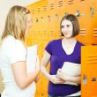 Teen Girls Between Classes — Stock Photo