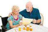 Senior Couple - Medical Bills — Stock Photo