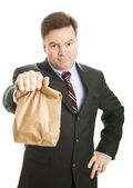 Brown Bagging it to Work — Stockfoto