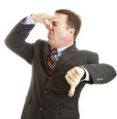 Businessman - It Stinks — Stock Photo