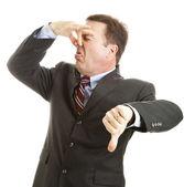 Businessman - It Stinks — Stock Photo