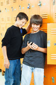 Teen Boys with Video Game — Stock Photo