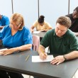 Adult Education - Taking Test — Stock Photo