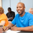 Handsome African-American College Student — Stock Photo