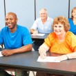 Stockfoto: Happy Smiling Adult Education Class