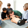 Hight School Health Class - CPR — Stock Photo #7314819
