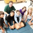 Stock Photo: students learn cpr