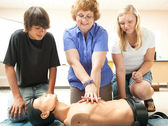 CPR Instruction in School — Stock Photo