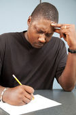 Adult Student with Test Anxiety — Stock Photo