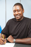 Handsome African American College Student — Stock Photo