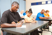 Adult Students Taking Test — Stock Photo