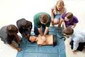 Group of Teens Take CPR Class — Stock Photo