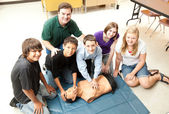 Students Learn CPR — Stock Photo